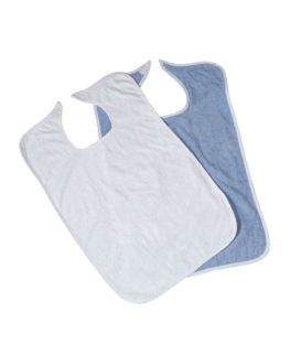 Adult Bib Terry with Velcro Closure