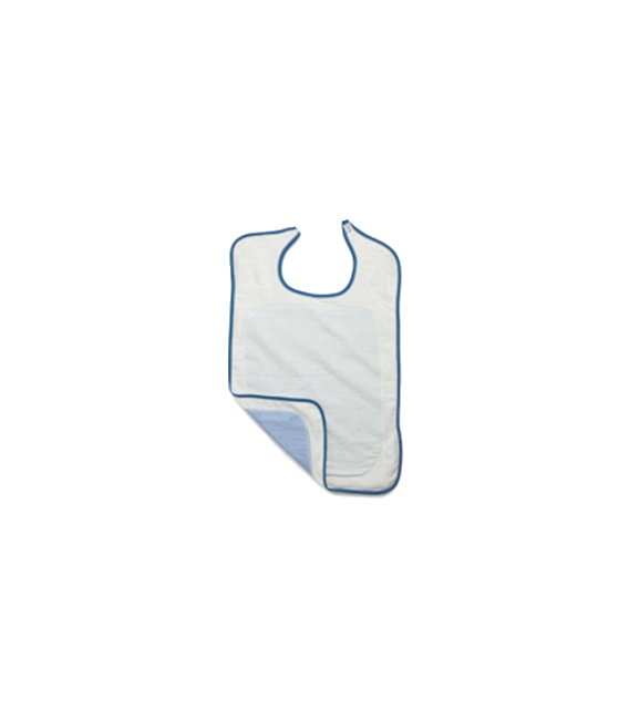 Impervious Adult Bib Terry with Velcro Closure