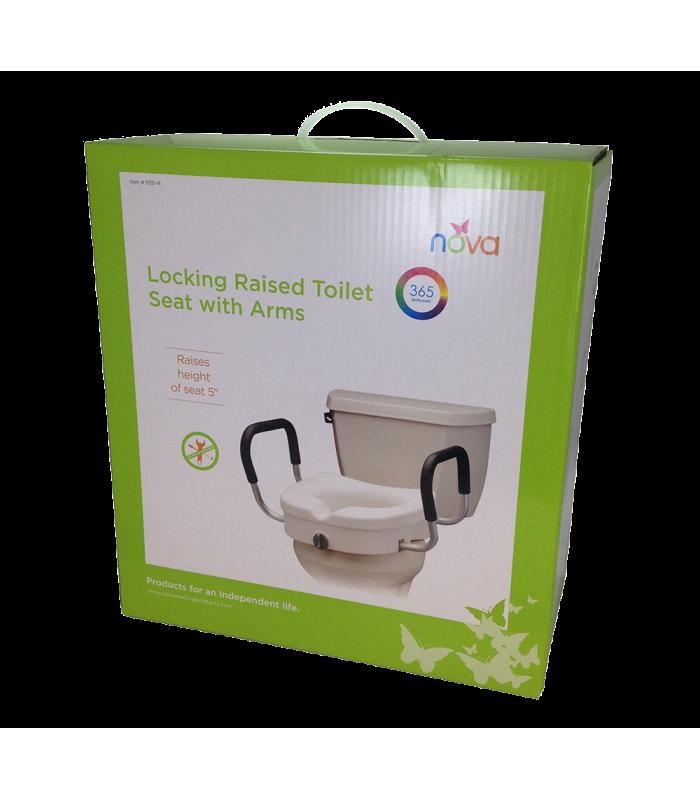 Nova Toilet Riser W Detachable Arms Cesco Medical