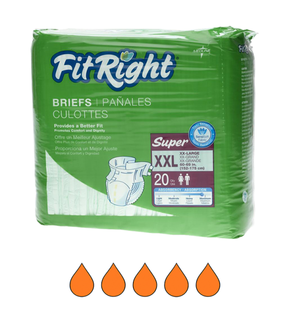 FitRight XXL Briefs