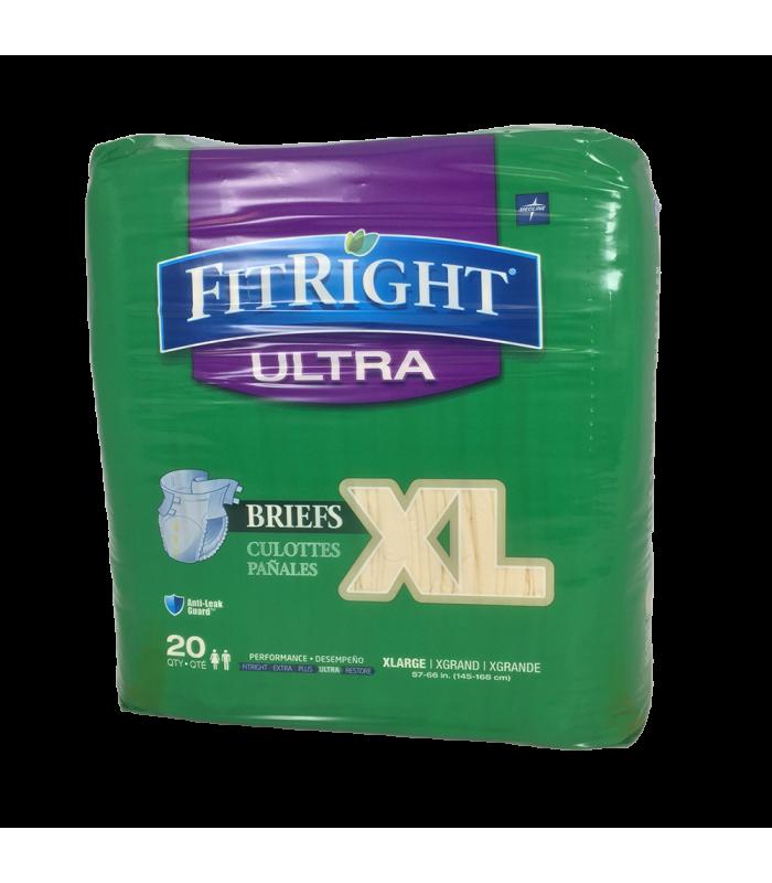 Fitright Ultra Briefs Extra Heavy Absorbency Case Cesco
