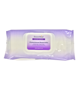 DawnMist Pre-Moistened Adult Washcloths